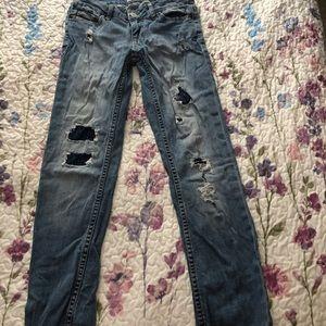Aeropostale Distressed Bayla Skinny Jeans S 00 Reg